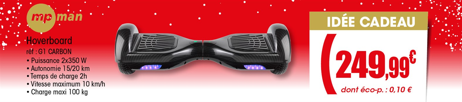 Hoverboard Mpman G1 CARBON
